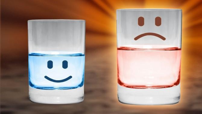 Ver o copo meio vazio também é preciso