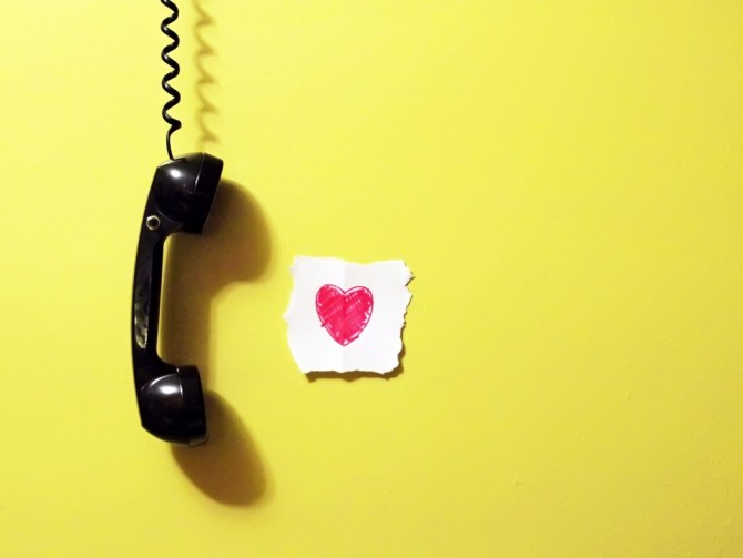 Telefone sem fio e chato dos namorados