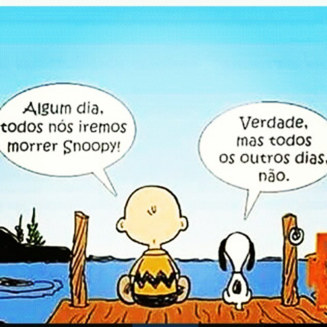 tirinha do snoopy sobre morte e vida