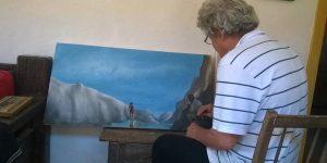 O pintor com respostas de poeta